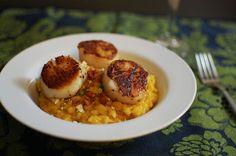 Delicious Dishings: Guest Post: Pumpkin Risotto With Seared Sea Scallops