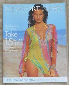 NEWPORT NEWS Catalog/ The Ultimate Swim Sale/ 2005/ Clean Back Cover | eBay
