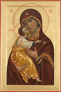 """Богоматерь """"Владимирская""""  Our Lady of the Vladimir Religious Images, Religious Icons, Religious Art, Byzantine Icons, Byzantine Art, Christian Artwork, Russian Icons, Religious Paintings, Mary And Jesus"""