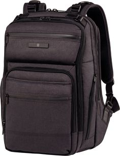 Buy the Victorinox Architecture Urban Rath at eBags - Pack your laptop, tablet, and other must-haves for the daily commute inside this hip urban-inspired Laptop Backpack, Black Backpack, Travel Backpack, 17 Laptop, Luggage Brands, Luggage Store, Day Backpacks, Napa Leather, Beleza