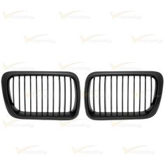 Black Front Euro Sport Hood Kidney Grilles For 1997-1998 BMW E36 318 320 323 328 #DirectFitForBMWE36318i318ti318is323i323is