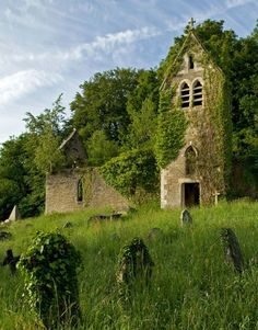 The ruined church of St Mary the Virgin, Monmouthshire, Wales