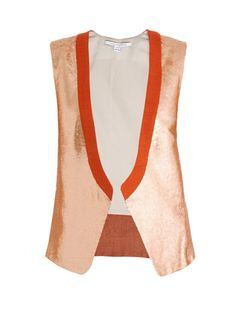 Diane Von Furstenberg Joline sequinned waistcoat so different love it ! Paired with a white shirt and dark jeans