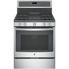 Buy the GE Stainless Steel Direct. Shop for the GE Stainless Steel 30 Inch Wide 5 Cu. Free Standing Gas Range with Edge-to-Edge Cooktop and save. Cleaning Oven Racks, Self Cleaning Ovens, Steam Cleaning, Cleaning Tips, Ottawa, Calgary, Four A Convection, Convection Cooking, Single Oven