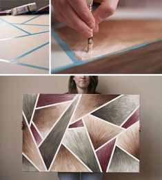 DIY Canvas Painting Ideas - DIY Easy-Peasy Artwork - Cool and Easy Wall Art Ideas You Can Make On A Budget - Creative Arts and Crafts Ideas for Adults and Teens - Awesome Art for Living Room, Bedroom, Dorm and Apartment Decorating http://diyjoy.com/diy-canvas-painting #artsandcraftsideasforkids,