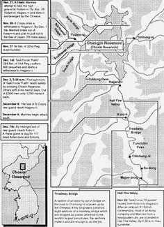 Map Of Chosin Reservoir 1951 Family Story Pinterest Korean War