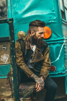 Beards. Men. Leather. Ink. Photography.
