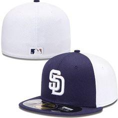 San Diego Padres New Era MLB Diamond Tech 5950 Fitted Hat (Navy)