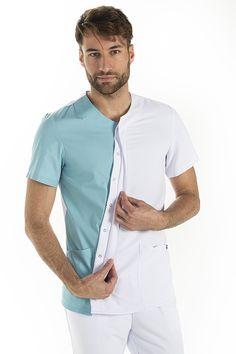 Dental Shirts, Medical Design, Uniform Design, Nursing Clothes, Dental Assistant, Scrubs, Spa, Men Casual, Mens Tops