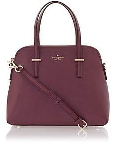 I've been wanting a burgundy purse for the longest time now and this one is just perfect being that it's also Kate Spade! :') - leather purses for women, cute purses on sale, womens handbags *ad Fashion Handbags, Purses And Handbags, Fashion Bags, Luxury Handbags, Cheap Handbags, Mk Handbags, Popular Handbags, Handbags Online, Designer Handbags