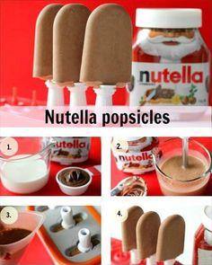 paletas de Nutella