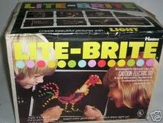 Lite Brite! So cool - until you dropped the little pieces all over the floor and stepped on them.  Ouch!