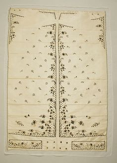18th century,  French waistcoat panel made of silk, metal sequins at the Met, Accession Number: 23.202