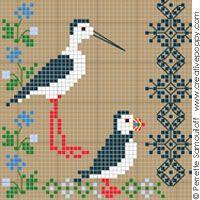 Perrette Samouiloff - Seaside motif sampler (large)(cross stitch)
