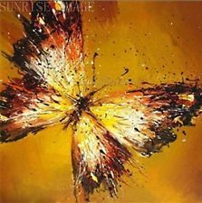 "OP134 Hand painted Oil Painting On Canvas Butterfly wall decor 20""x20 ..."