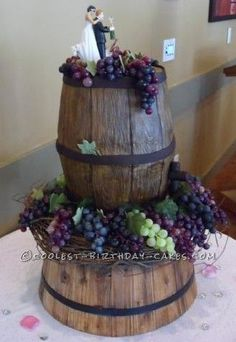 vineyard themed wedding cakes wine barrel birthday cake cakes birthday 21598