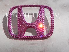 Crystal PINK Swarovski Bling HONDA Emblem by IcyCouture on Etsy, $151.54