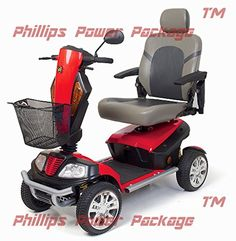 Golden Technologies  Patriot  Heavy Duty Scooter  4Wheel  Red  PHILLIPS POWER PACKAGE TM  TO 500 VALUE <3 This is an Amazon Associate's Pin. Clicking on the image will lead you to the Amazon website.