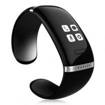 L12S OLED Bluetooth Bracelet Watch with Call ID Display, Phone Answer (Black)
