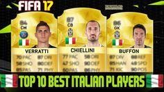 FIFA 17 | TOP 10 BEST ITALIAN PLAYERS RATINGS PREDICTION | FT. VERRATTI, CHIELLINI, BUFFON...etc - tickets.fifanz201... #FIFA17