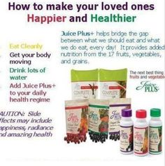Changing your life with better nutrition.  #juiceplus #betterhealth