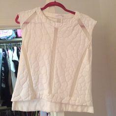 Zara Vest Shirt Cool vest type shirt, mesh inserts, heavy linen type material with cool raised pattern Zara Tops Blouses