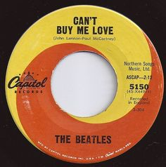 The Beatles - Can't Buy Me Love on Billboard The Beatles, Beatles Singles, Beatles Lyrics, 45 Records, Vinyl Records, 70s Music, Good Music, Can't Buy Me Love, My Love