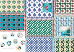 Retro Tile Designs: Sweet and Nostalgic Designs in Japan - Handicrafts, Graphics, Architecture and More