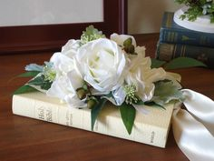Southern Tradition - White Bible Bridal Bouquet - this is what my grandmother carried and we'll use the same bible for our rings