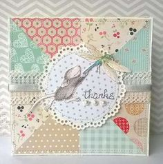 """""""Mousey Thank You Card"""" by Laila Corrêa on House-Mouse Designs®"""