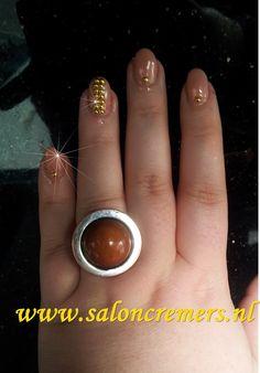 naturel bling short nails