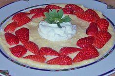 Maisgrießflammeri mit Erdbeeren