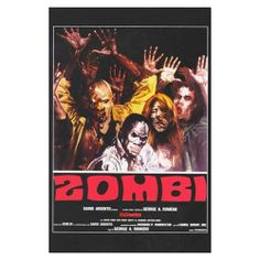 1978 Dawn of the Dead Reproduction Poster Print Italian Style C - Approximate Size 11 x 17 Inches -28cm x 44cm