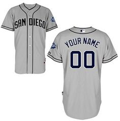 Men s San Diego Padres Authentic Personalized Road Gray Baseball Jersey  Baseball Jersey Outfit 1aa89ffc3