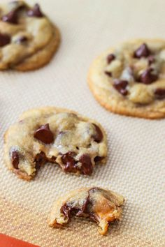 Snickers Stuffed Chocolate Chip Cookies (1 of 1)-3
