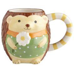 Hedgehog Mug from Pier 1 imports. Shop more products from Pier 1 imports on Wanelo. Hedgehog Pet, Cute Hedgehog, Happy Hedgehog, My Coffee, Coffee Mugs, Hedgehog Accessories, Pretty Mugs, Animal Mugs, Cool Mugs