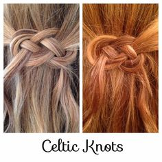 Hair Styles by Liberty: Celtic Knot Great for St. Patrick's Day or for bridesmaids (or the bride) to wear at an Irish or Celtic themed wedding, shower, engagement party, or other event. #celtic #knot #shaped #braid #hairstyle #hair #wedding #prom #homecoming #party #Irish #Scottish #Welsh