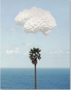 John Baldessari: Brain/Cloud (With Seascape and Palm Tree), 2009,. 74 x 58 cm