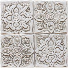 Outdoor wall art & ceramic tiles by GVEGA Outdoor Wall Art, Outdoor Walls, Suzani Fabric, Handmade Tiles, Bathroom Wall Decor, Tile Art, Ceramic Pottery, Art Pieces, Island Kitchen