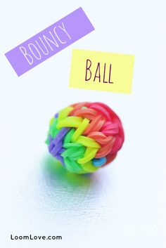 How to make a rainbow loom bouncy ball. Fun craft for kids!