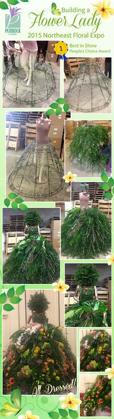 For the 2015 Northeast Floral Expo we created this lovely 'Flower Lady' as our d. - Zukünftige Projekte - For the 2015 Northeast Floral Expo we created this lovely 'Flower Lady' as our display. Mannequin Christmas Tree, Dress Form Christmas Tree, Xmas Tree, Christmas Crafts, Christmas Decorations, Deco Floral, Flower Show, Yard Art, Diy Flowers