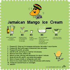 Jamaican mango ice cream