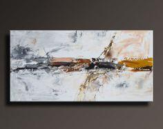 48 grande Original pintura abstracta sobre lienzo por itarts