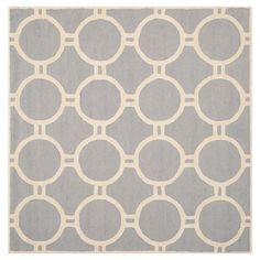Safavieh Sullivan Area Rug - Silver / Ivory ( 8' X 8' ), Silver/Ivory
