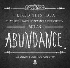 Miss Peregrine's Home for Peculiar Children, Hollow City by Ransom Riggs.