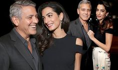 Amal Clooney cosies up to George at star-studded charity fundraiser