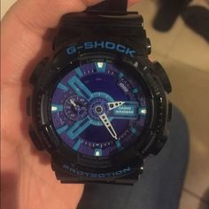 Authentic Black/Purple G-Shock In good condition, 2-3 scratches just needs battery. Got it as a gift a while back but haven't worn it in so long. Open to offers G-Shock Accessories Watches