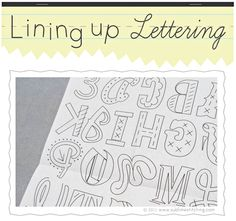 How-To: Lining Up Lettering