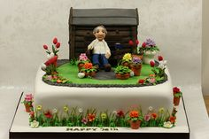 Garden Cake by Kingfisher Cakes, via Flickr