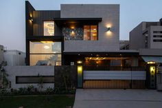Contemporary House | By ASMI Design – 10 Marla House , DHA Lahore,Pakistan Minimalist House Design, Minimalist Home, 10 Marla House Plan, Villas, Online Architecture, House Elevation, Design Consultant, Little Houses, Design Firms